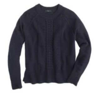 J Crew Wool pointelle cable sweater xs